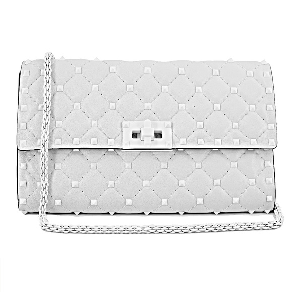 Valentino Handbags - New Valentino Rockstud Matelassé Leather Bag